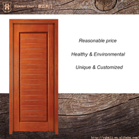 Panel design solid wood exterior flat door whole seller in China