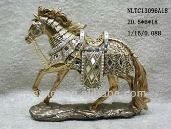 Hot selling decoration resin cast horse animal for gift ,art decor horse