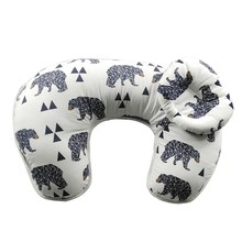 best wedge 100% cotton custom wholesale head bed baby nursing breastfeeding u shape pillow cover factor baby pillow