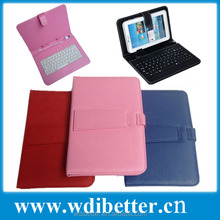 "Multi Language Colorful 7"" 9"" 10"" inch Tablet PC Leather Keyboard Case"