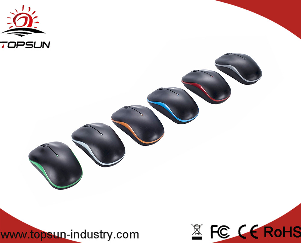 2.4G Ergonomic 1000DPI Optical Wireless Mouse, Colorful Mouse