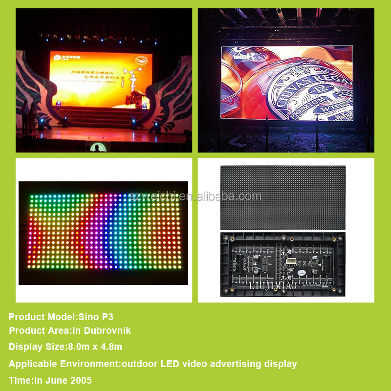 mini p6 p8 p10 video advertising led display screen