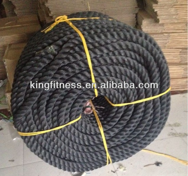 KINGFITNESS--Power Training Rope 38mm SPORT EXERCISE FITNESS/Power Training Rope/ Power RopeBATTLE ROPE, Training Rope