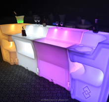 Used commercial bar event furniture mobile modern lighting LED bar counter