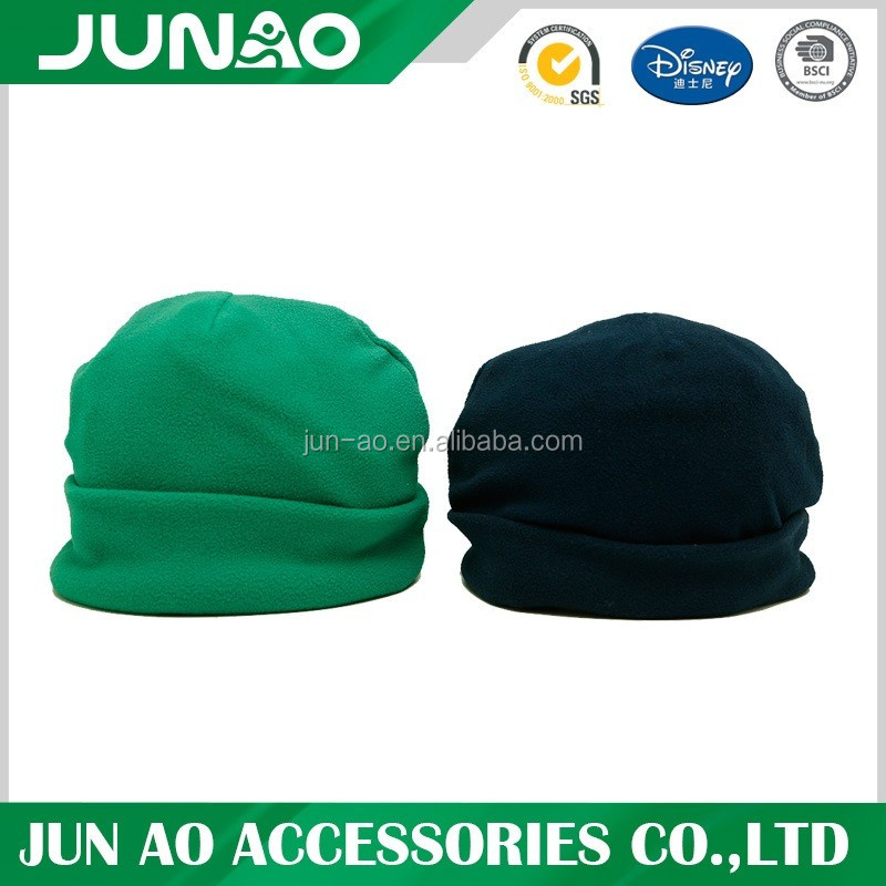 Plain Polar Fleece Beanie With Customized Pattern