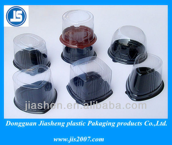 custom PET plastic tray with clear cover for cakes