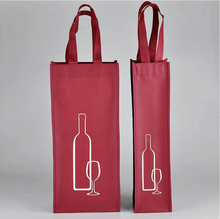 2015 New design printing customized top quality promotional wine glass gift bags