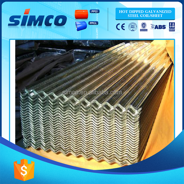 Latest Style High Quality zink coated corrugated steel sheets