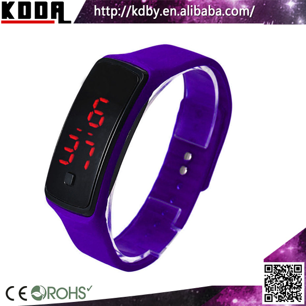 Koda Horologe Ultra Thin Men Sports Silicone Digital LED Sports Wrist Watch