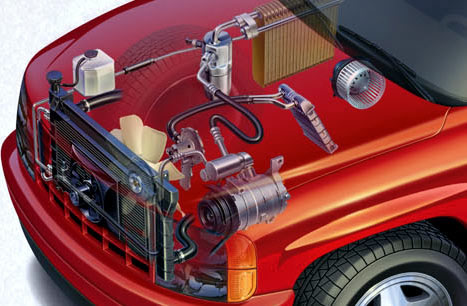 Radiator Condenser HVAC Air condition Automobiles