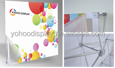 Hot sale aluminum frame Advertising fabric velcro Popup Display Stand