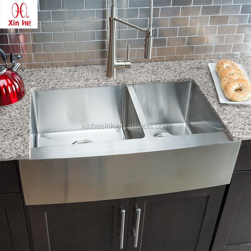 RDFlame Fregadero de cocinade acero inoxidable Fregadero empotrado cuadrado 55 x 45 x 22 cm