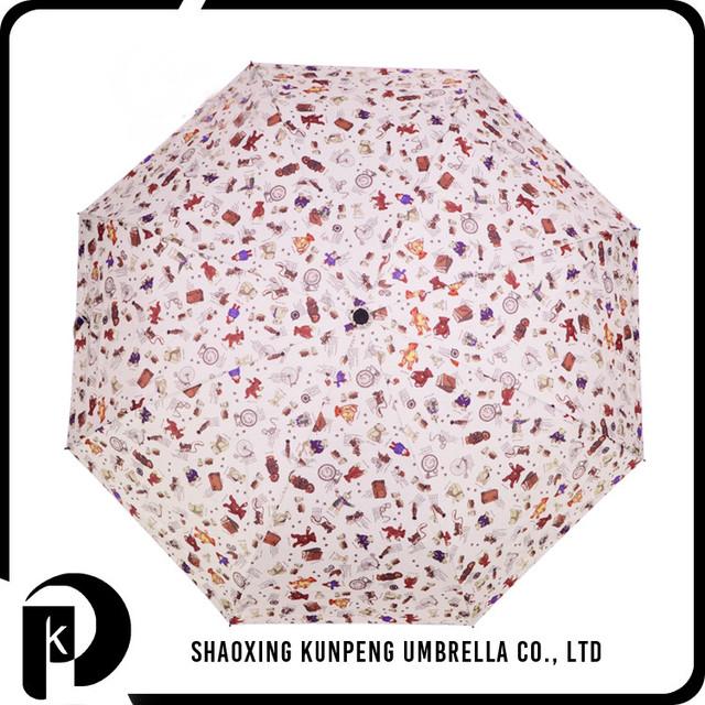 Fold Bear Pattern heat transfer print kids umbrella cute printing children rain umbrella