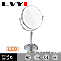 LY-2011D sale-up hair salon mirrors wholesale with LED light