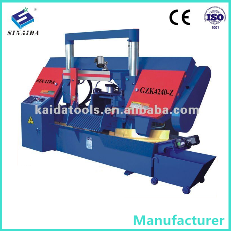 SINAIDA Brand CNC Double Column Bridge 400mm Full Auto Stainless steel pipe cutting machine