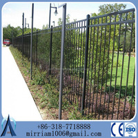 2016 new desigh cheap wrought Iron fence, metal fence, steel fence
