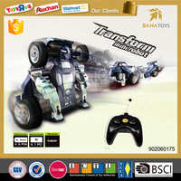 Newest cool 360 degrees transform rc robot drift car toy