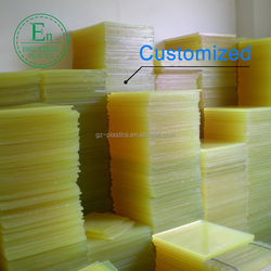 Customizing material plastic plate board thickness 5-20mm 100% virgin PU Polyurethane sheet