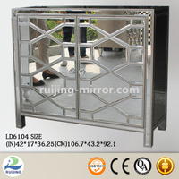 mirror glass tv equipment cabinet