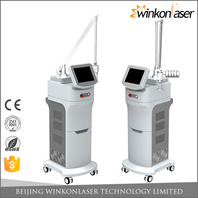 2017 professional 10600 nm rf tube fractional co2 laser equipment for pigment removal