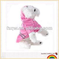 Lovely pink safety dog pets raincoat