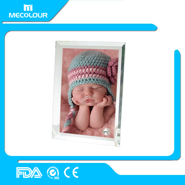 Mecolour sublimation glass photo frame for birthday gifts decorate gifts