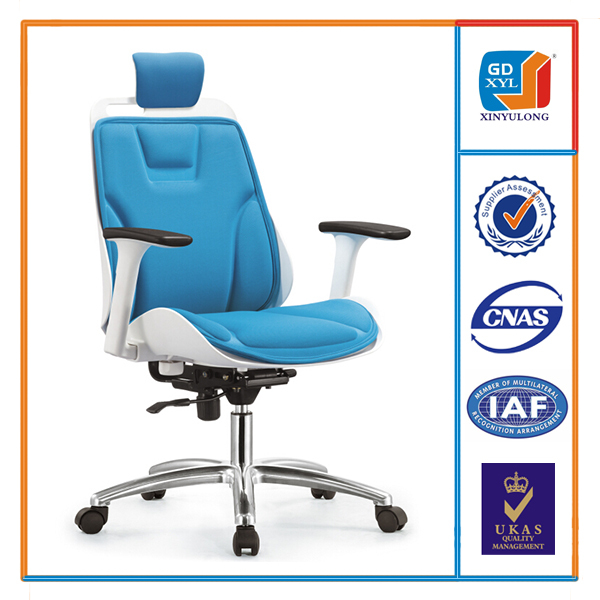 Various colors simple style modern office chair with washable cushion and adjustable back