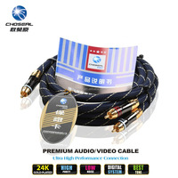 CHOSEAL High Grade OFC RCA Audio Cable Pair for Car Audio and Home Stereo