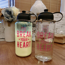 Portable 1L jug joy&shaker water bottle,boxing water bottle with small caps