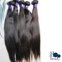 Machine made strong weft full cuticle high quality cutting straight unprocessed mongolian hair