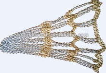 Steel chain basketball net
