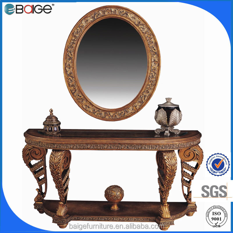 M-0090B Entrance antique furniture beauty salon cheap clear sheet glass mirror