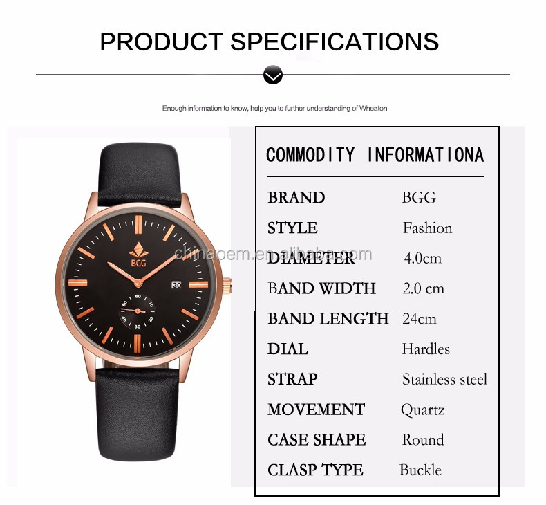 New Fashion Luxury Brand Men Calendar Casual Quartz Watch Men