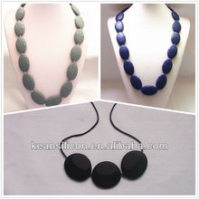 Soft Wholesale Nursing Necklace/Liquid silicone Star Teething Bling