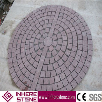 China red granite cubic stone, cube paver