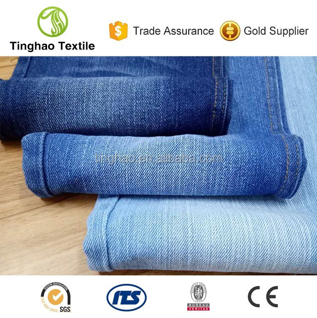 Most popular 100 cotton indigo denim jeans fabric supplier