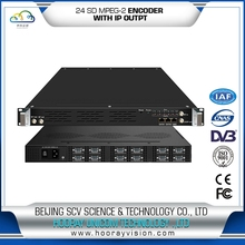 DVB&IPTV System 8in1 SD MPEG-2/4 Encoder with ASI and IP output