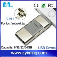 Zyiming otg usb 3.0 flash drive 500gb flash drive for iphone6plus