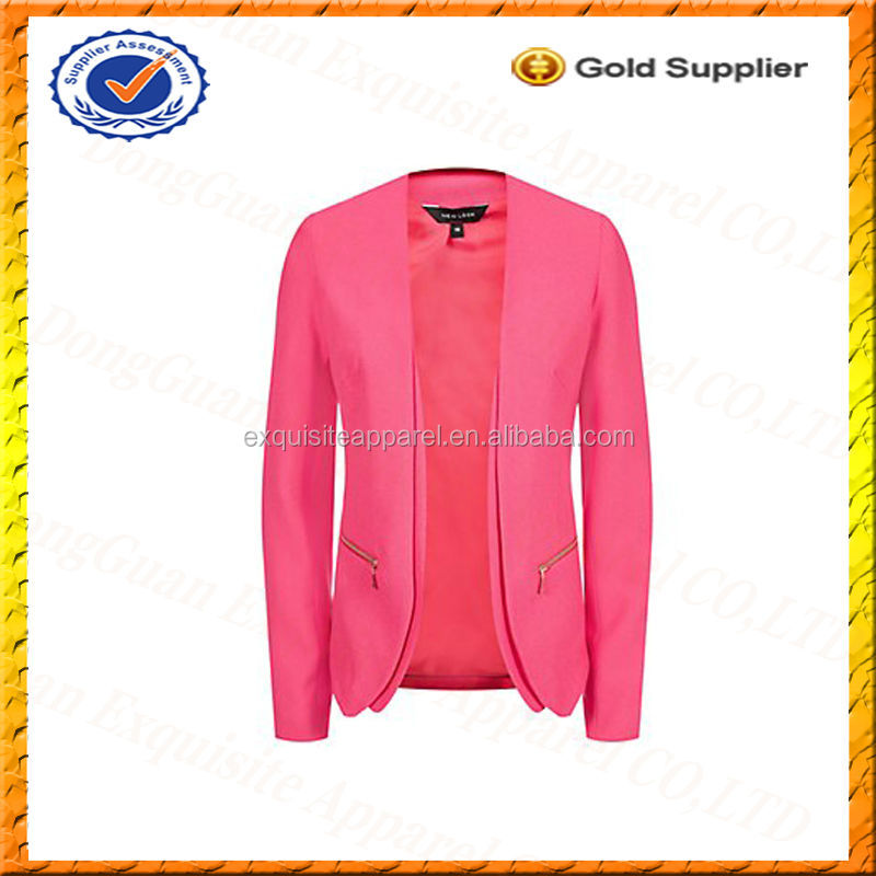 Custom Viscose Crepe Zip Pocket Blazer Jacket/Pure Crepe Suits Wholesale