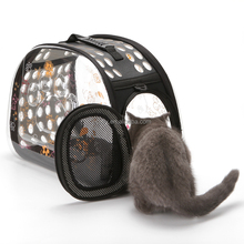 Transparent Pet Carrier Travel Bag for Small Dogs and Cats, Foldable Pet Travel Kennel Portable Pet Carry Handbag