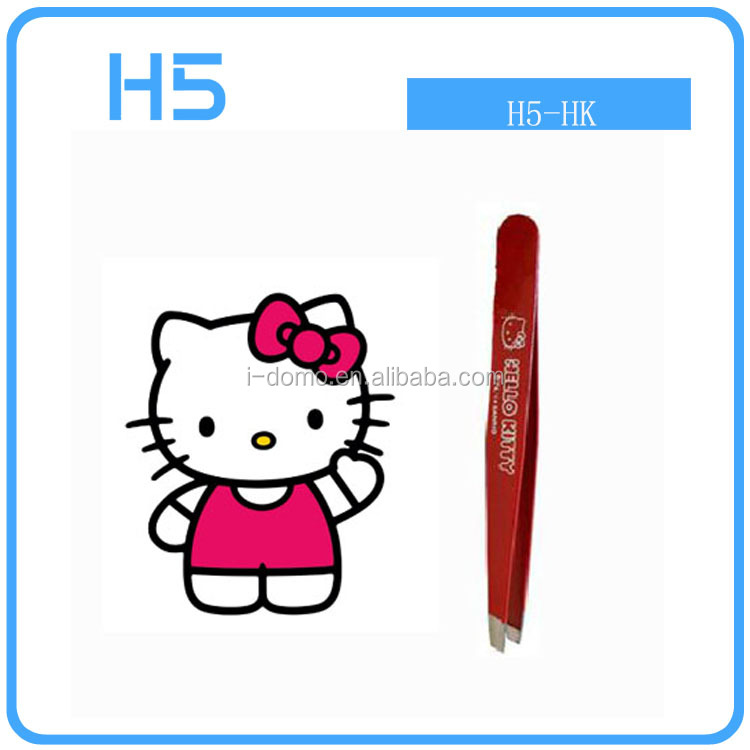 New Hello ketty High quality cute Eyebrow tweezer For Lady make up