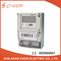 Cken CE Certification 220V 50Hz LCD Single Phase Energy Meter Electric Multirate Type Watt-hour Meter Price , Kwh Meter