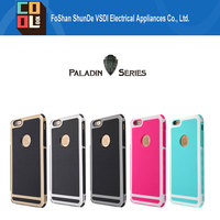 Paladin Series Shockproof 360 Protective PC Hard Shell Neo Hybrid Combo Cell Phone Case for Iphone6 6plus
