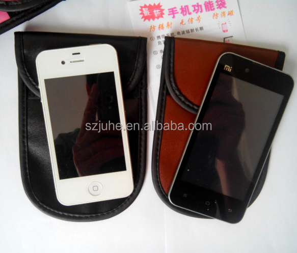 High technology!! Anti-RFID/Anti-Radiation/Anti-disturbing cellphone pouch wallet cell phone purse