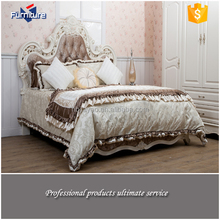 White Aesthetic Design Wood Low Bed