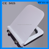 HY-2112 soft closing easy install d shape standard slim square toilet seat hinges stainless steel toilet seat