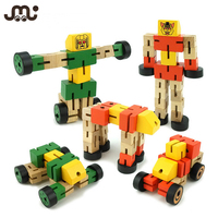Transformable Toy Wooden Robot
