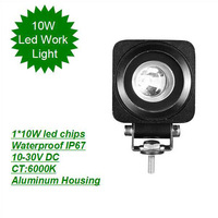 High LM Led chips PC lens single row 10w led light bar