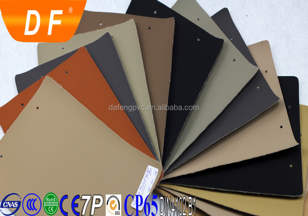 Flame retardant abrasion-resistant pvc rexine car leather for seat cover