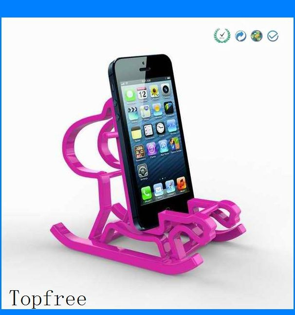 colorful funny horse cell phone holder for desk